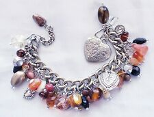 Exquisite Vintage Bead And Charm Bracelet- OOAK