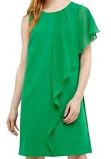 Ladies Phase Eight Green Morganna Asymmetric Frill Dress Uk8 bnwt