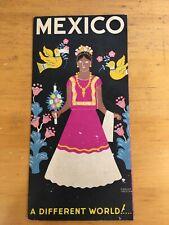Vintage Mexican Travel Tourist Souvenir Brochure Circa 1950's