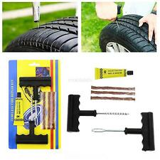 Car VAN Motorcycle Tubeless Tyre Puncture Repair Tool Kit Tire Plug 6 In 1 Set