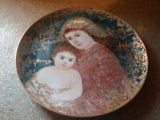 "Edna Hibel ""And Unto Us A Child Is Given"" Plate"