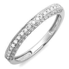 0.40 Carat 14k Gold Diamond Ladies Wedding Band Enhancer Guard Ring Size 6.5
