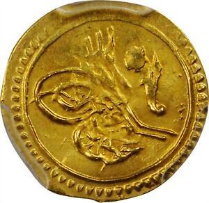 Ottoman Empire 1812.Gold Coin 1/4 Zeri. AH 1327 Mahmud II. NGC MS 64 TOP 1