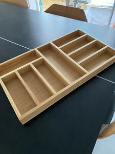 Solid Oak Cutlery Tray For Kitchen