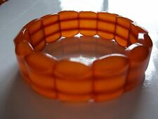 Vintage Baltic/Latvian natural amber bracelet, 20 grams, 3/4 inches wide
