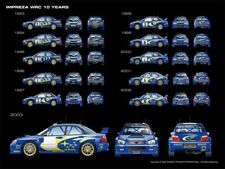 A3 Subaru Impreza WRC 10 Years Rally Wall Poster Art Picture Print