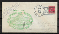 Us 1933 Cachet Fdc Us Navy,Ship Cancel Uss Constitution,Vf Postally Used (Rn-6