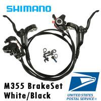 Shimano BR-BL-M355 Hydraulic Disc Brake Set Front & Rear Black White G3 HS1 RT56