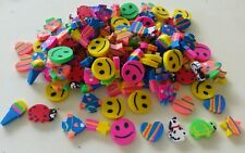 20 assorted mini Erasers Kids Party Bags Favours Toys Vending Novelty schools