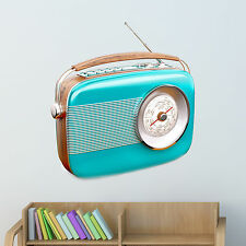 Old Radio Wall Decal - Wall Sticker, Home Decor, Wall Mural