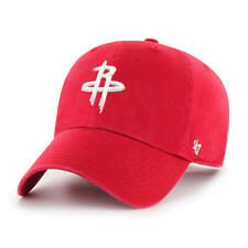 Houston Rockets 47 Brand Clean Up Hat Adjustable Cap Red
