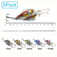 5PCS Live Target Hook Yearling Fishing Lures Bait Ball Crankbait Jerkbait Bass
