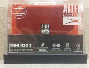 Altec Lansing Mini H20 3 Bluetooth Waterproof Speaker *pls read details*