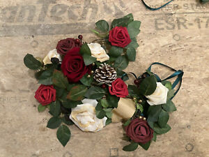 Lantern Floral Arrangements Set of 6 - Whimsical Christmas/Wedding New Leftover