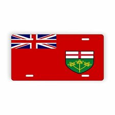 "Ontario Provincial l Flag Licence Plate 6"" x 12"" Aluminum Plate"