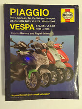 VESPA GT125 LX4 PIAGGIO ZIP SP FLY X8 X9 NRG B125 SCOOTER HAYNES MANUAL 1991-06