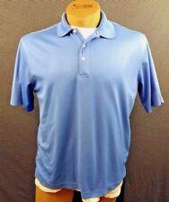 Palm Beach Golf Performance Shirt Mens Medium Polo Blue Ss 100% Poly Athletic