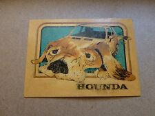 old vintage HONDA car part trading card ad 1973 1974 1975 1976 1977 1978 1979