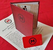 MADNESS - WEBSITE 'M' SECTION MEMBERSHIP CARD AND NUMBER + HANDBOOK + LETTER
