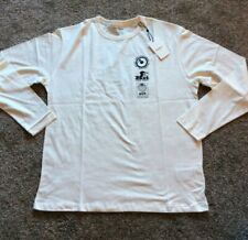 Bnwt Pepe Jeans Men's Bollin LS T-Shirt - Off White - Small