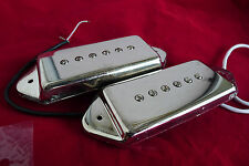 Pair Genuine P90 P-90 Dog Ear Pickups Metal Chrome Cover P90S