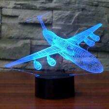 Große Flugzeug-3D LED-Schreibtisch-Lampe 7 veränderbare Farben USB-Nachtlicht