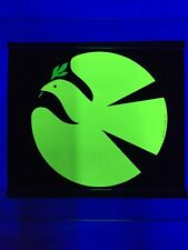 Vintage Peace Dove Yellow 1970's Blacklight Poster Mini 10x12 AA Sales