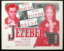 JEZEBEL 1938 Henry Fonda, Bette Davis TITLE LOBBY CARD