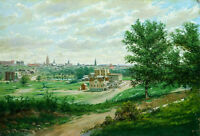 No framed Oil painting view Lowry Hill, Minneapolis - Alexis Jean Fournier (US)