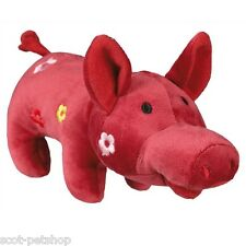 NEW Plush Dog Toys Pink & Flower Pig Toy for Dogs 21 cm