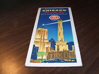 1971 GULF OIL METROPOLITAN CHICAGO TOURGUIDE MAP