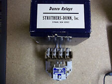 Struther Dunn Type B48LXX 4 Pole 120 Volt Relay Normally Open Silver Contact NOS