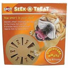 Spot wooden shuffle wheel interactive treat dispensing dog IQ puzzle toy