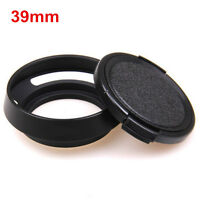 39mm Metal Vented Lens Hood for Leica Summicron M R Voigtlander + Lens cap