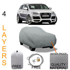 AUDI Q7 TRUE 4 LAYERS GRAY FITTED SUV COVER SUN WIND OUTDOOR WATER PROOF