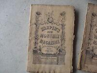 Vintage April 1873 Harper's New Monthly Magazine Post Civil War