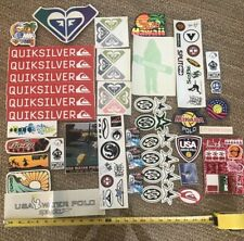 40 Piece Vintage Surf & Other Sticker Pack Quicksilver Roxy + More