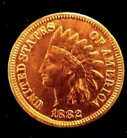 *MAKE-A-$387 OFFER*=1882 UNC INDIAN HEAD PENNY MS/PL/BU *RED LIBERTY~4 DIAMONDS*
