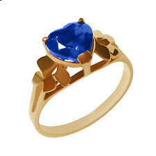 14k yellow Gold with  CZ Sapphire  Stone Women's Ring