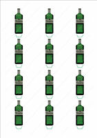 Novelty Gordons Gin Bottle Stand Up Fairy Cake Cupcake Toppers Edible Birthday