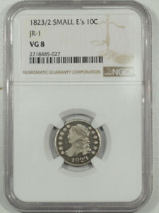 1823/2 SMALL Es CAPPED BUST DIME JR-1 - NGC VG-8