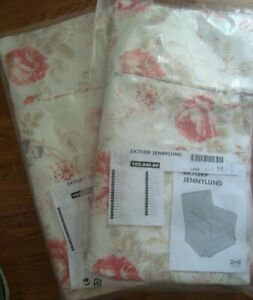 2 Sets Ikea Ektorp Jennylund Chair Covers Armchair Slipcovers Byvik Multicolor