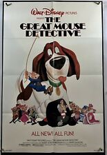 GREAT MOUSE DETECTIVE Movie Poster (Fine) One Sheet 1986 Walt Disney 1801