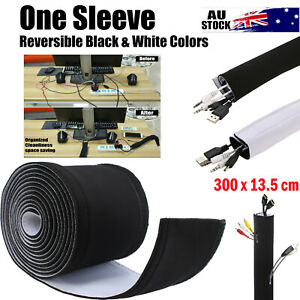 """118"""" Cable Management Organizer Neoprene Cable Cord Wire Cover Hider Sleeves 3m"""