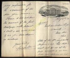 1912 ILKLEY YORKS, CRAIGLANDS HYDROPATHIC, ILLUSTRATED LETTERHEAD / LETTER