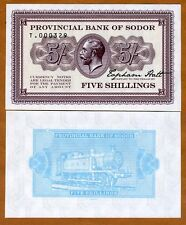 Isle of Sodor, 5 shillings, Limited Private issue, Specimen, UNC > KGV, Train