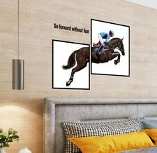NEW HORSE STICKER MURAL WALL STICKER BEDROOM LOUNGE MOTIVATION RACING RIDING