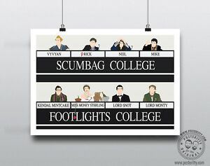 THE YOUNG ONES Scumbag Footlights Comedy print Minimal Poster Posteritty Mayall