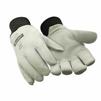 RefrigiWear Fleece Lined Insulated Deerskin Leather Gloves