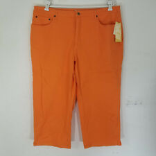 Coldwater Creek 20W Jeans Cropped Orange Shape Me Countour Waist Slimming New